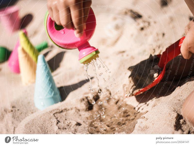 Plastic watering can and shovel Leisure and hobbies Vacation & Travel Tourism Trip Adventure Summer Summer vacation Sun Sunbathing Beach Ocean Island Child