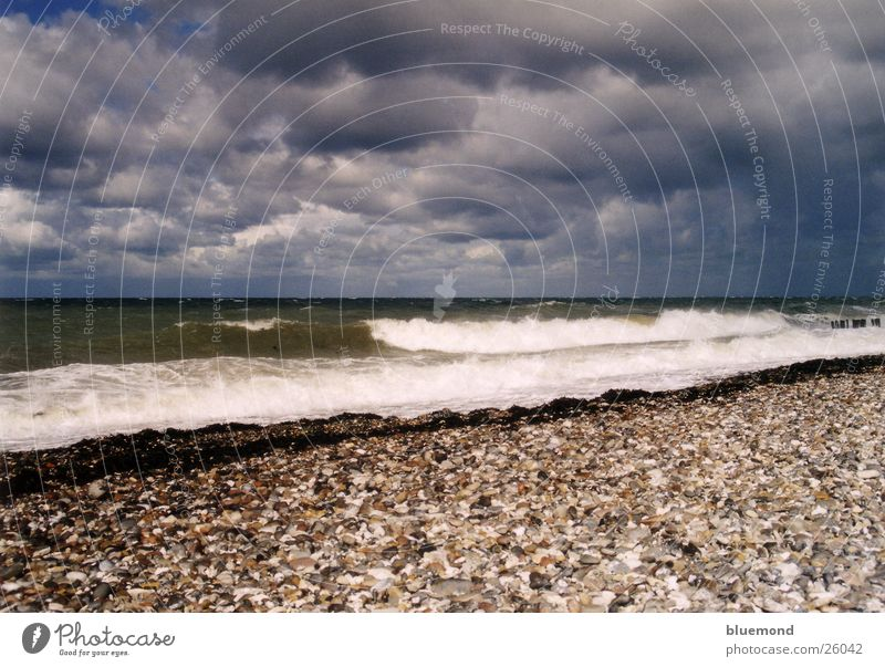 stormy summer Beach Waves Clouds Gale Water Sky