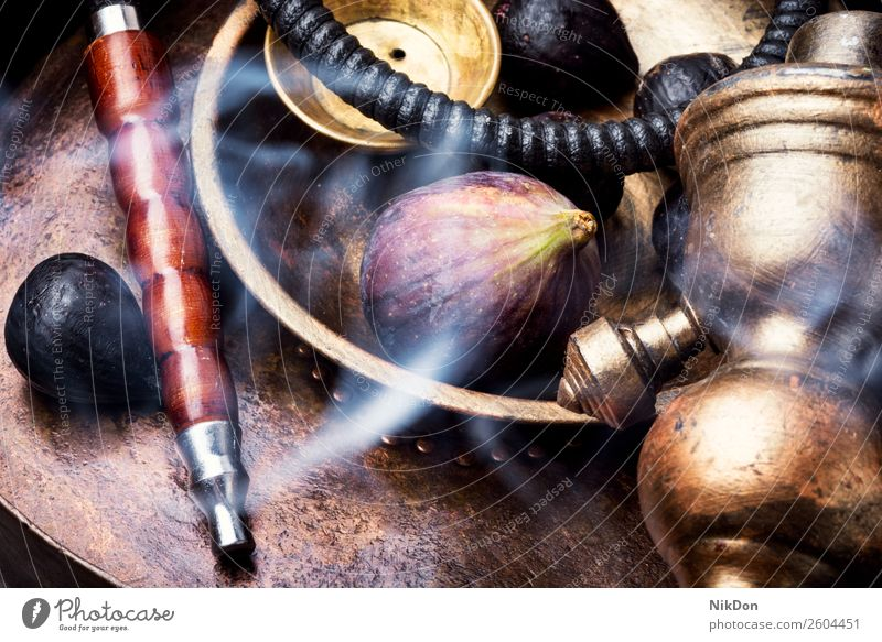 Oriental shisha with figs hookah tobacco nargile berry kalian smoke nicotine smoking east relaxation fruit arabic mouthpiece pipe fragrant fume hookah with figs