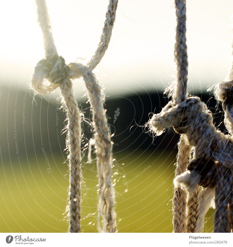 Goal network in Spain Rope Knot Colour photo Exterior shot Day Blur String Back-light Loop Fastening