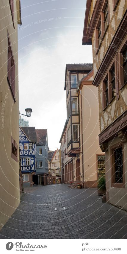 Wertheim Old Town scenery Calm Summer House (Residential Structure) Culture Downtown Old town Manmade structures Building Architecture Facade Tourist Attraction