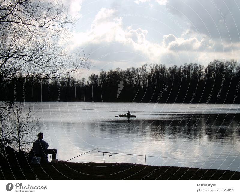 Water Clouds Watercraft Fish River Fishing (Angle) Rhine Angler