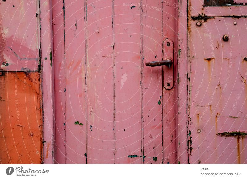 Old Black Colour House (Residential Structure) Wall (building) Wood Wall (barrier) Metal Line Door Pink Facade Authentic Living or residing Safety Gloomy
