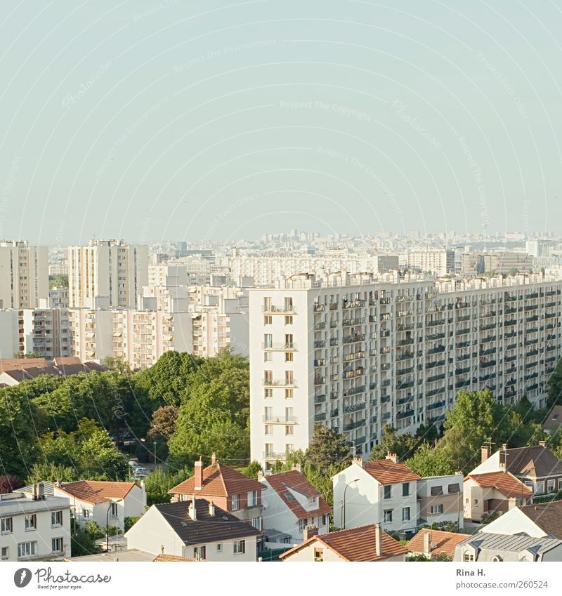 City House (Residential Structure) Architecture Bright Park High-rise Skyline Paris Square Narrow France Capital city Detached house