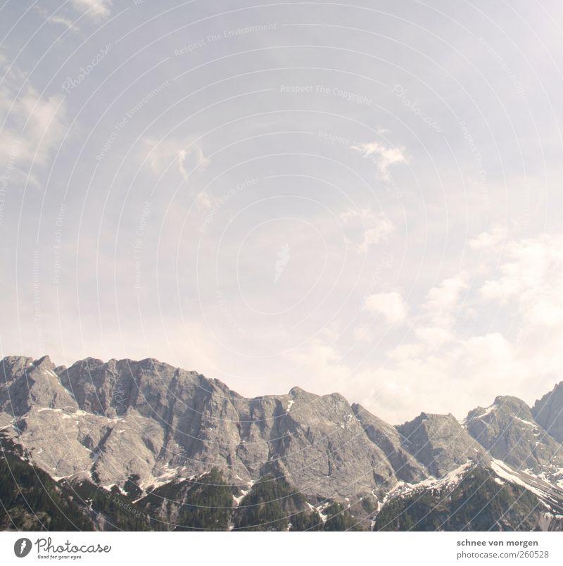 Nature Sun Clouds Environment Landscape Mountain Air Horizon Weather Rock Tourism Alps Beautiful weather Peak Cloudless sky Snowcapped peak