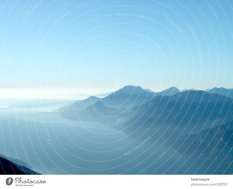 lago di garda Lake Lake Garda Mountain Alps monte baldo