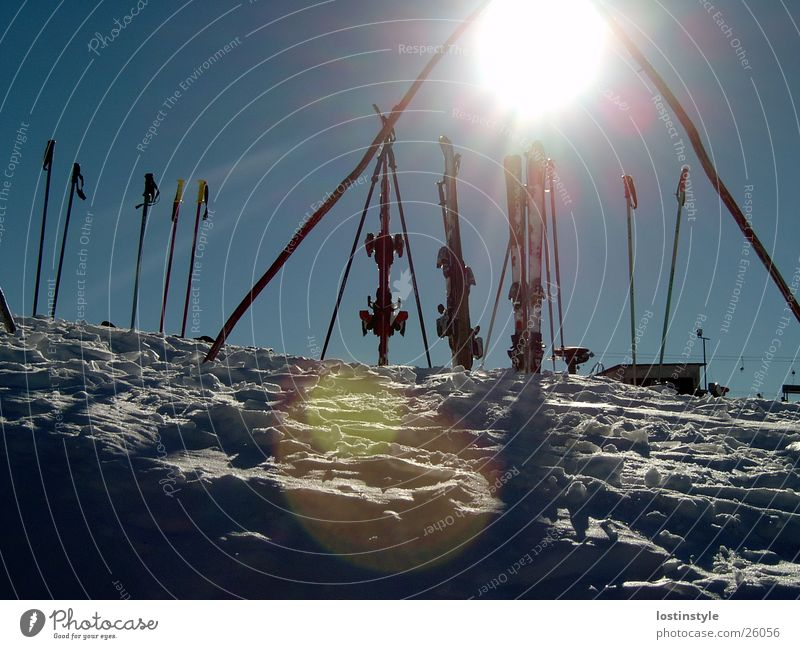 Sky Sun Winter Sports Snow Skiing