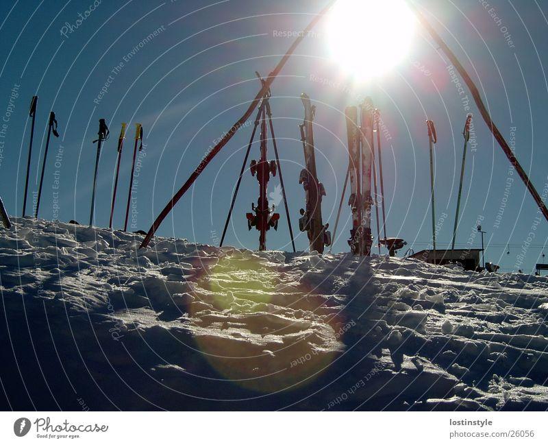 Sky Sun Winter Sports Snow Skiing
