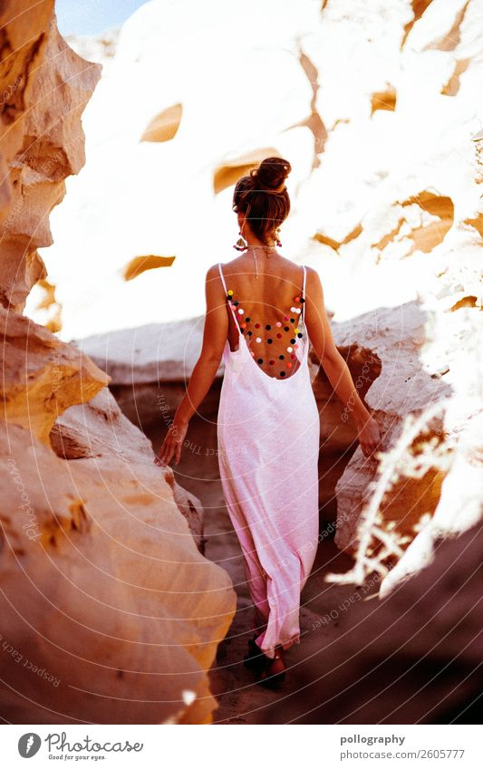 walk alone Lifestyle Style Beautiful Leisure and hobbies Trip Adventure Freedom Feminine Young woman Youth (Young adults) Body Back 1 Human being Art Nature