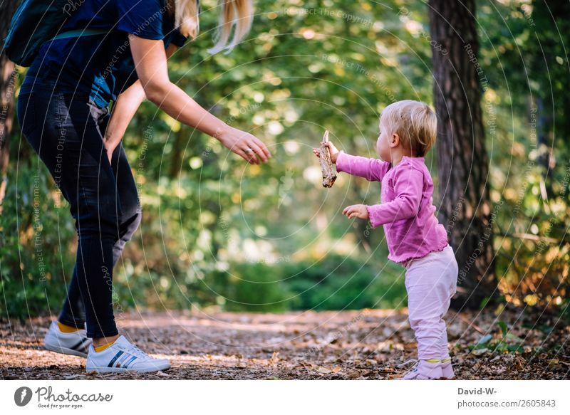 for you Parenting Human being Feminine Child Toddler Girl Woman Adults Mother Life Hand 1 Environment Nature Autumn Beautiful weather Forest Communicate Leaf