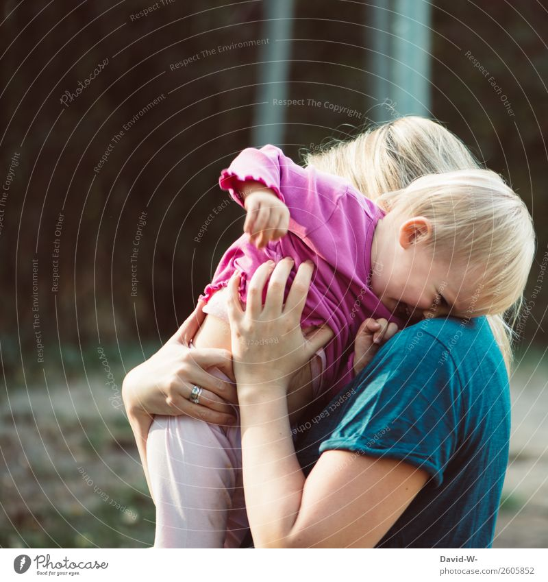 love Parenting Human being Feminine Child Toddler Girl Mother Adults Infancy Life 1 - 3 years Environment Nature Summer Beautiful weather Smiling Laughter