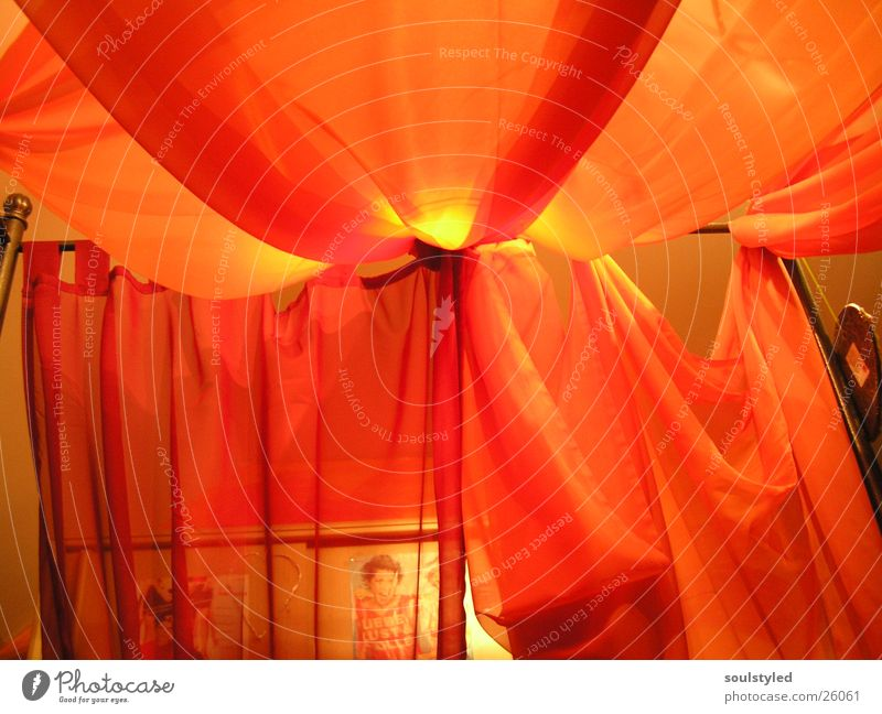 four-poster bed Bed Cozy Sleep Light Living or residing Decoration Orange Moody Rag
