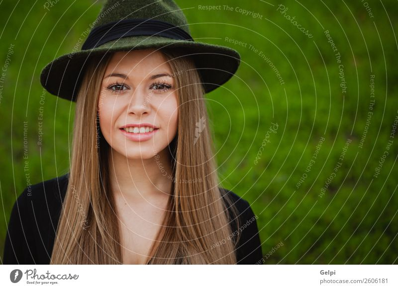 Pretty brunette woman Lifestyle Style Joy Happy Beautiful Face Make-up Human being Woman Adults Nature Park Street Fashion Clothing Hat Blonde Eroticism Cute