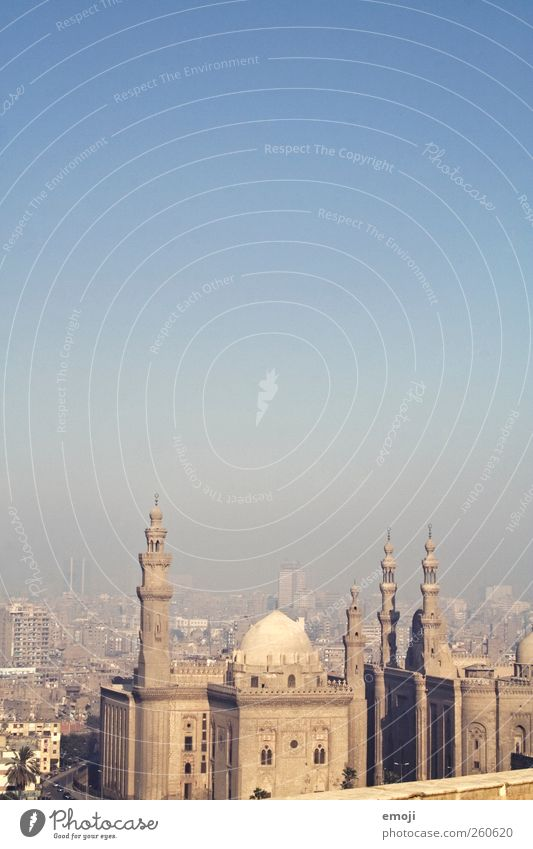 Cairo [Smog] II Sky Cloudless sky Town Capital city Downtown Skyline Manmade structures Building Architecture Tourist Attraction Landmark Monument Mosque