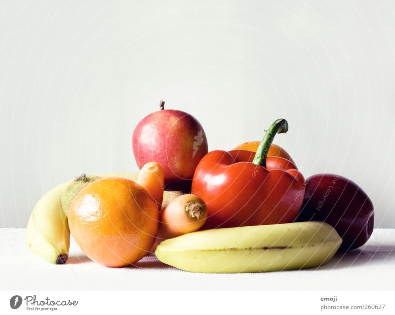 stock fruit Vegetable Fruit Organic produce Vegetarian diet Diet Fresh Healthy Vitamin-rich Multicoloured Natural Food photograph Colour photo Interior shot