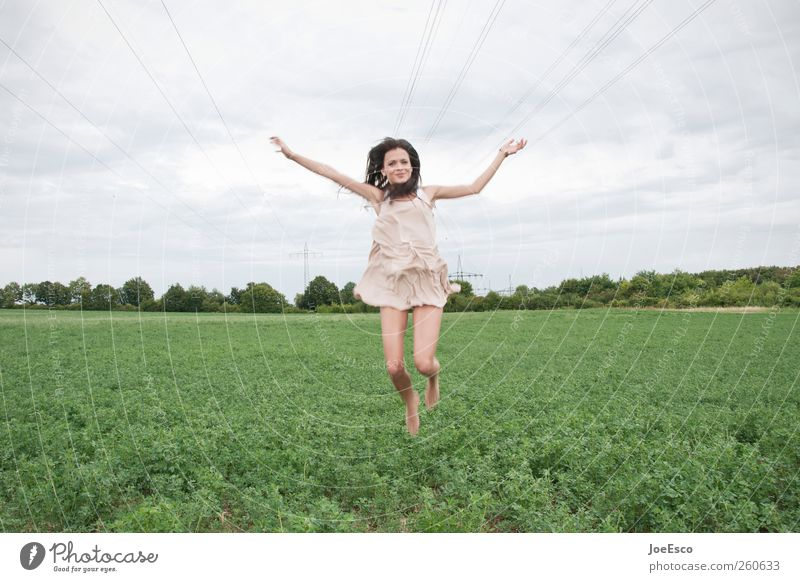 Woman Sky Beautiful Summer Joy Adults Life Landscape Freedom Jump Spring Style Horizon Field Flying Natural