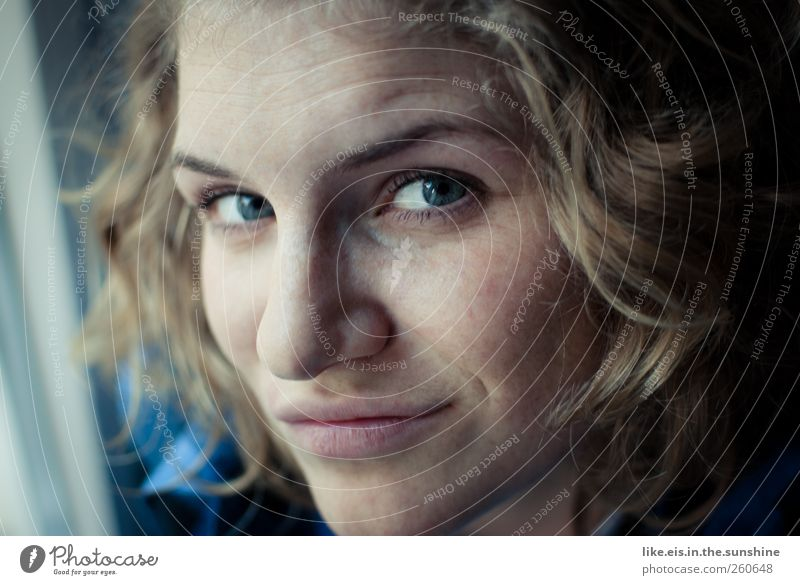 Human being Woman Youth (Young adults) Beautiful Adults Face Eyes Life Feminine Emotions Head Hair and hairstyles Blonde Power Mouth Nose