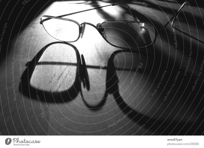 the glasses Eyeglasses Grainy Accuracy Light Leisure and hobbies Shadow Black & white photo detailed Contrast