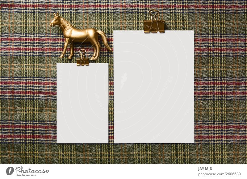 holiday menu decorated with golden ornaments Dinner Winter Decoration Table Thanksgiving Christmas & Advent New Year's Eve Horse Toys Above Menu Mock-up Card