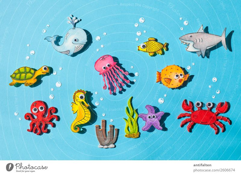 group photo Leisure and hobbies Handicraft Foam rubber Draw Vacation & Travel Tourism Adventure Summer Summer vacation Climate change Ocean Animal Wild animal