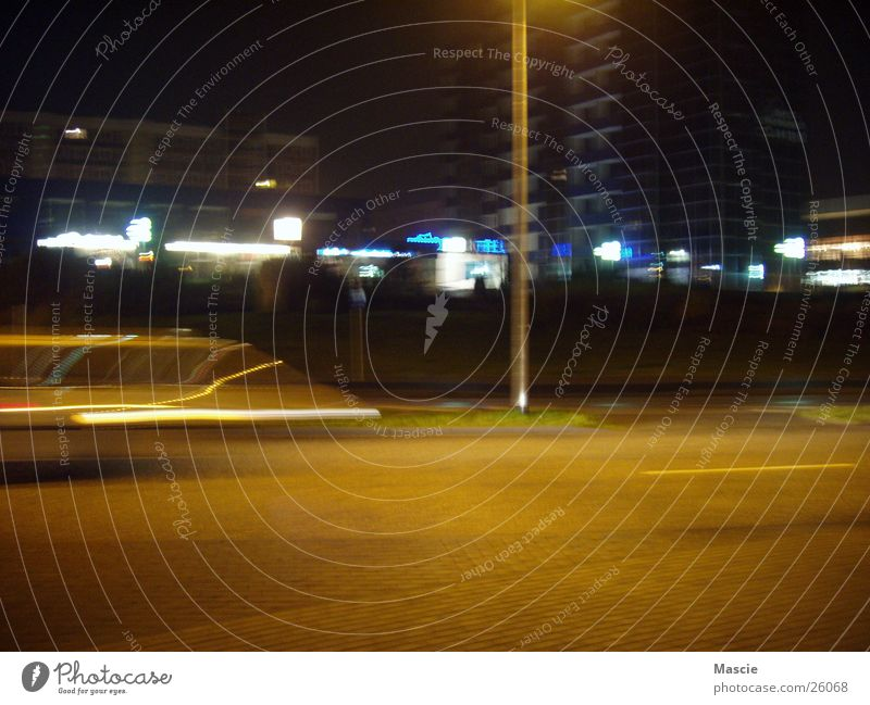 City House (Residential Structure) Street Dark Movement Car Lighting Transport Speed Lantern