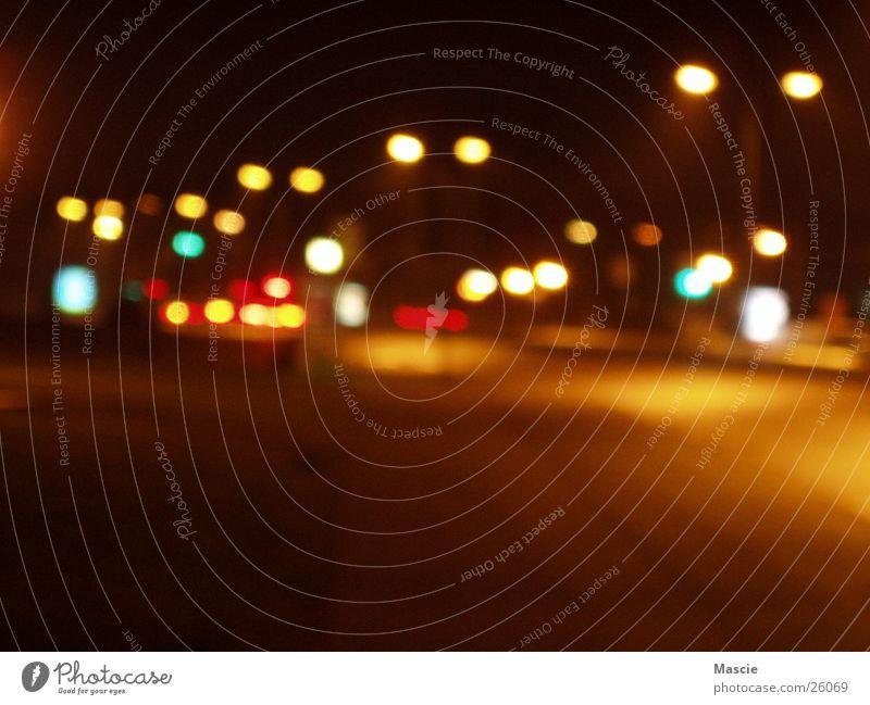 Fastlane 2 Night Dark Lantern Light Traffic light Town Lighting Transport Street
