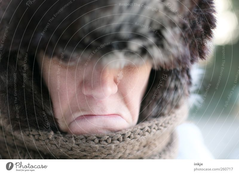 Winter Face Adults Life Dark Cold Emotions Warmth Sadness Moody Ice Climate Lifestyle Frost Communicate Pelt