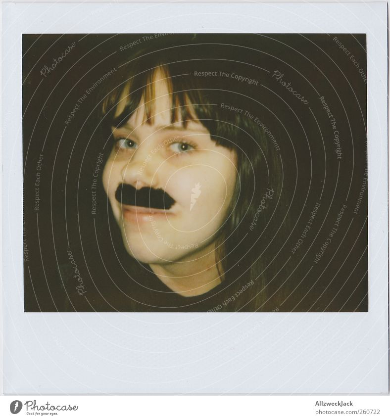 Human being Youth (Young adults) Joy Adults Head 18 - 30 years Young woman Facial hair Whimsical Freak Moustache Fetishism