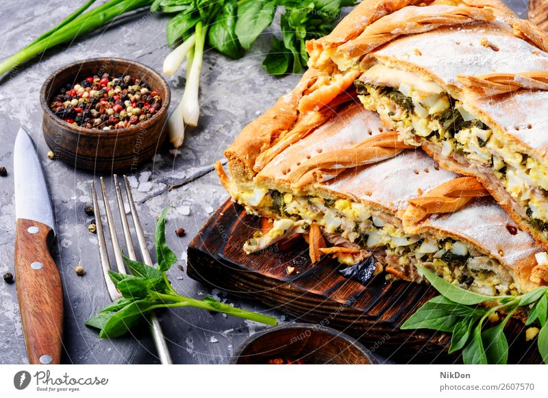 Pie with green and eggs pie food healthy lunch cooking meal vegetable dinner breakfast baked plate pastry crust cuisine homemade vegetarian onion delicious