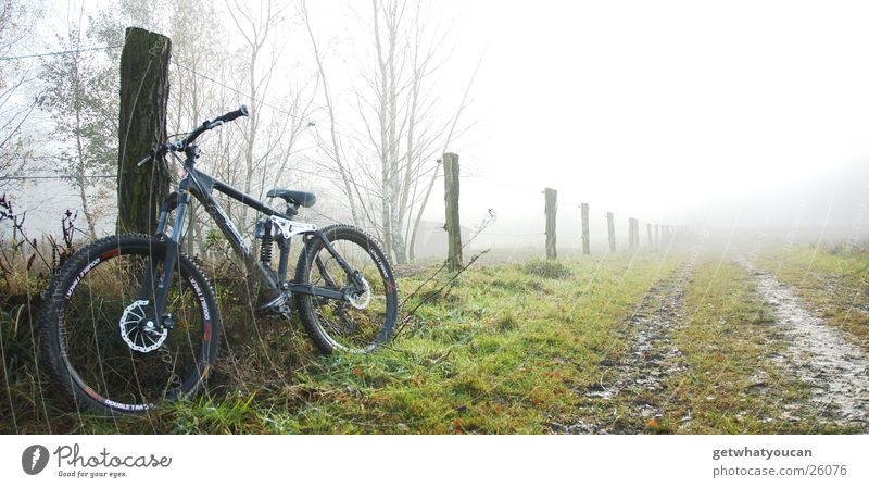Nature Black Meadow Cold Mountain Autumn Lanes & trails Bicycle Fog Technology Fence Mud Extreme sports
