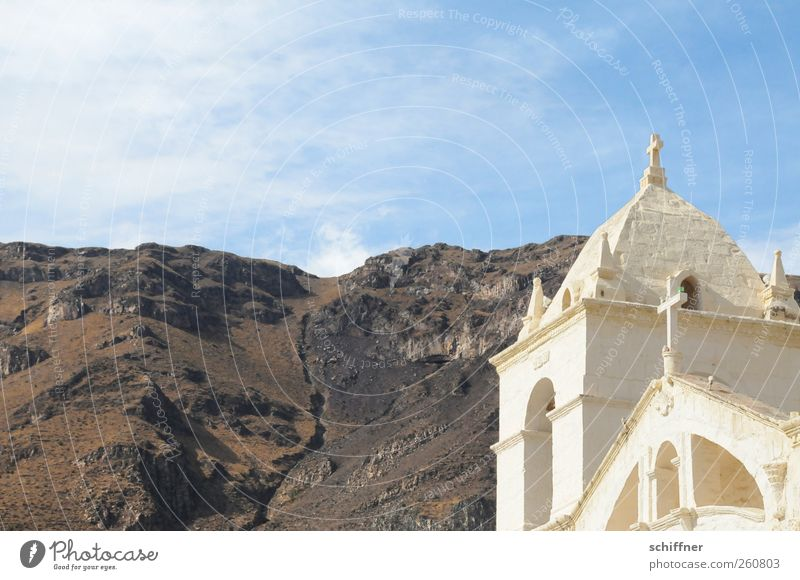 Sky Old White Landscape Mountain Lighting Earth Rock Church Elements Manmade structures Beautiful weather Christian cross Tourist Attraction Steep Cervice