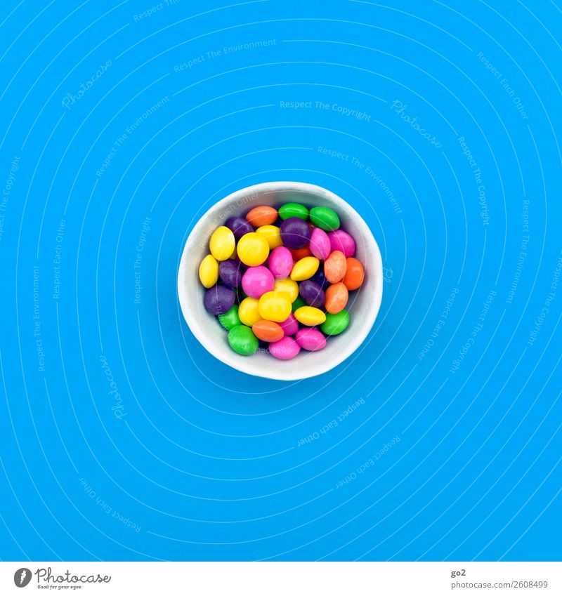 Colourful pills Food Candy Chocolate Nutrition Bowl Healthy Health care Medical treatment Medication Happiness Uniqueness Delicious Blue Multicoloured Joy