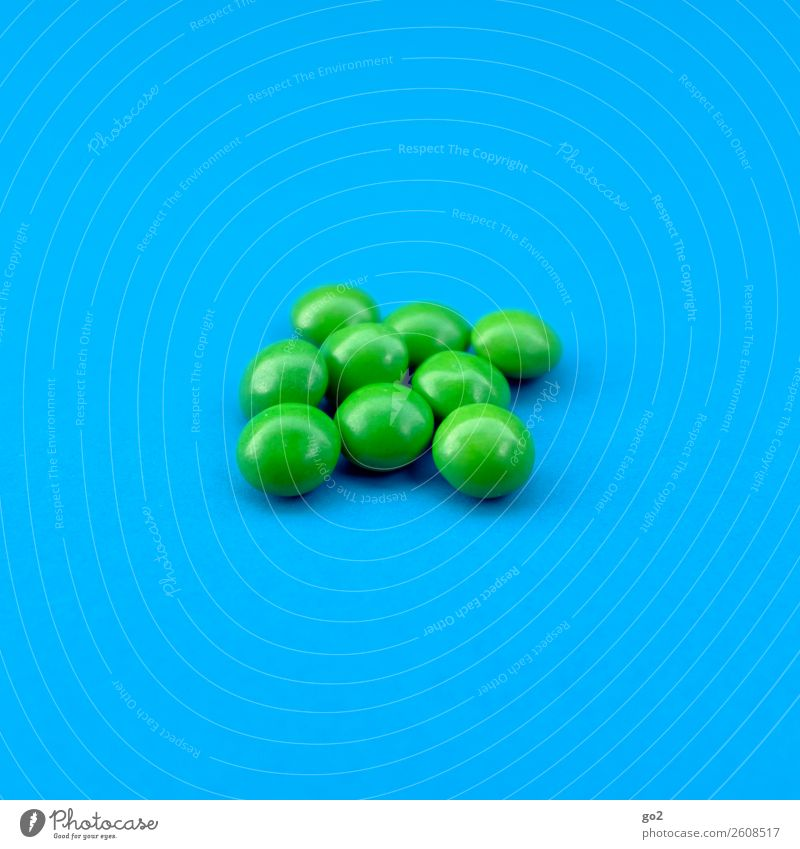 Green works! Food Candy Nutrition Diet Healthy Health care Medication Delicious Round Blue Exhaustion Drug addiction Esthetic Competition Performance