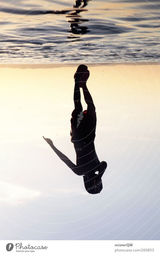 As Above, So Below. Art Esthetic Water Surrealism Playing Jump Dive Romp Surface of water Reflection Really Light (Natural Phenomenon) Horizon Inverted Summer
