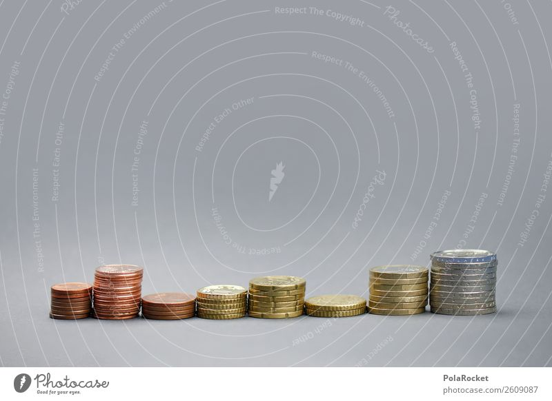 #A# Counting Delusion Art Esthetic Münzenberg Coin Euro Euro symbol Cent Stack Loose change Save Financial Industry Capitalism Money Capital investment