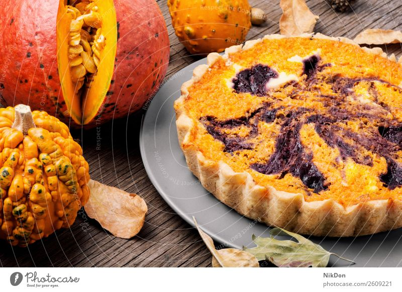 Homemade pumpkin pie food autumn dessert traditional homemade crust pastry delicious thanksgiving seasonal fall festive squash baked sweet cake piece plate