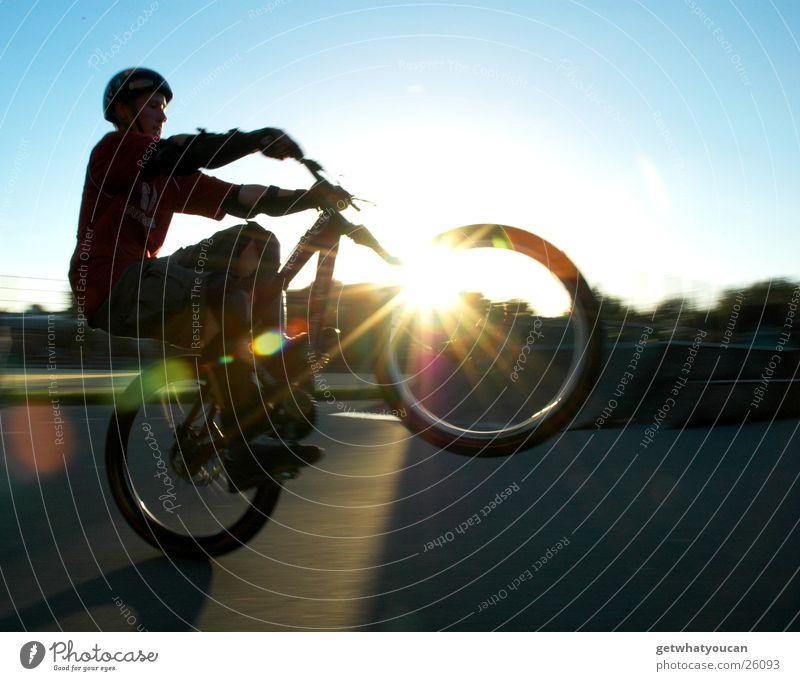 Sky Sun Dark Bright Bicycle Wheel Helmet Sports ground Extreme sports