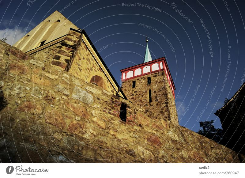 Old City Wall (building) Above Architecture Religion and faith Stone Wall (barrier) Building Germany Tall Large Climate Church Stand Point