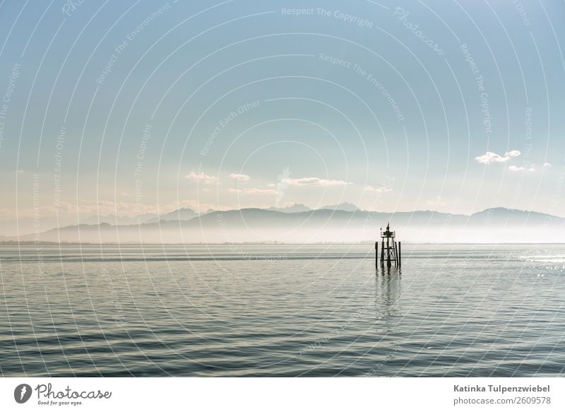 Herbst mit Nebel auf dem Bodensee in Lindau, Deutschland Nature Landscape Elements Water Sky Autumn Mountain Waves Lakeside Bay Landmark Vacation & Travel