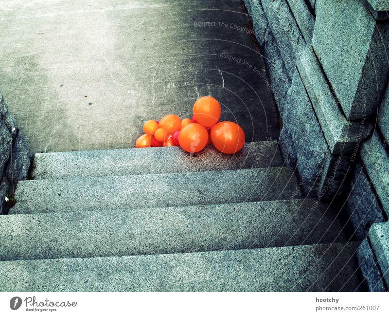 Gray Orange Lie Stairs Decoration Balloon