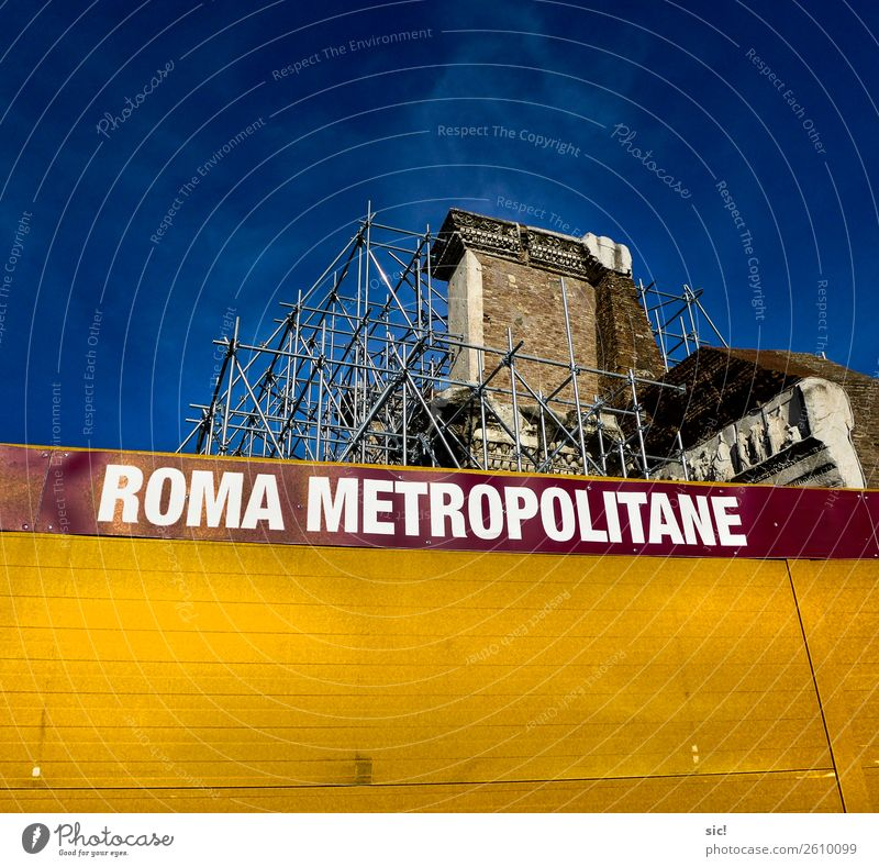 Roma metropolis Vacation & Travel Tourism Sightseeing City trip Architecture Archeology Sky Rome Italy Capital city Downtown Old town Ruin Manmade structures