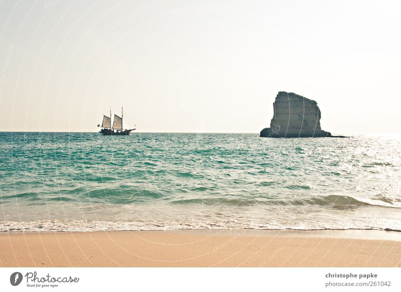 Pirates of the mediterranean Vacation & Travel Summer Summer vacation Sun Beach Ocean Waves Cloudless sky Beautiful weather Coast Bay Portugal Navigation