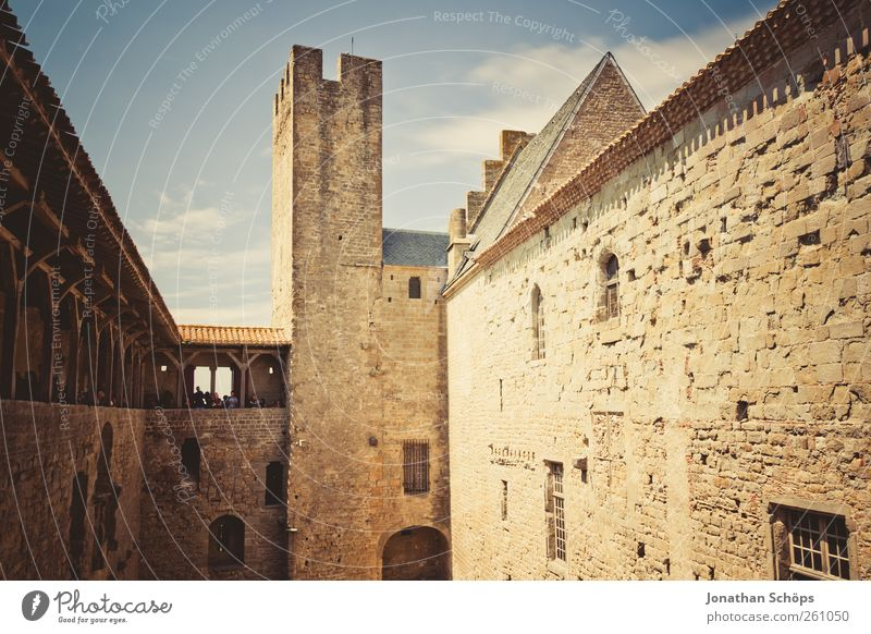 Vacation & Travel Wall (building) Architecture Freedom Warmth Stone Wall (barrier) Building Trip Adventure Tourism Tower Castle Ruin France Summer vacation