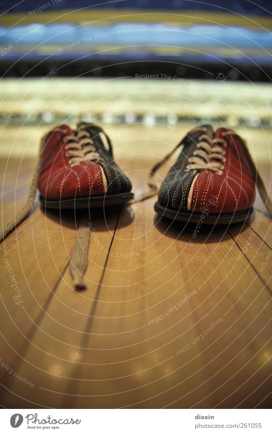 These Boots Are Made For Bowling Leisure and hobbies Playing Sports Bowling alley Bowling shoes Sporting Complex Footwear Sneakers Wood Leather Blue Red