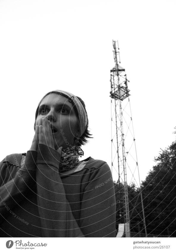 Woman Sky Hand Tree Tower Lawn Prayer Antenna Horror Spark Marvel Headscarf