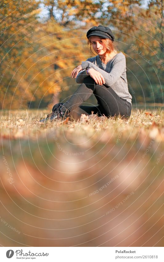 #A# Autumn sun 1 Human being Esthetic Model Fashion Autumnal Autumnal colours Early fall Automn wood Clearing Leaf Seasons Manikin Woman Smiling Exterior shot