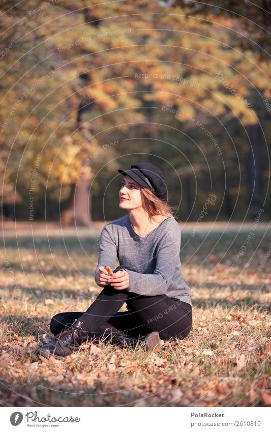 #A# Day in the park 1 Human being Esthetic Relaxation Autumn Autumnal Autumn leaves Autumnal colours Early fall Automn wood Autumnal weather Woman Fashion Model