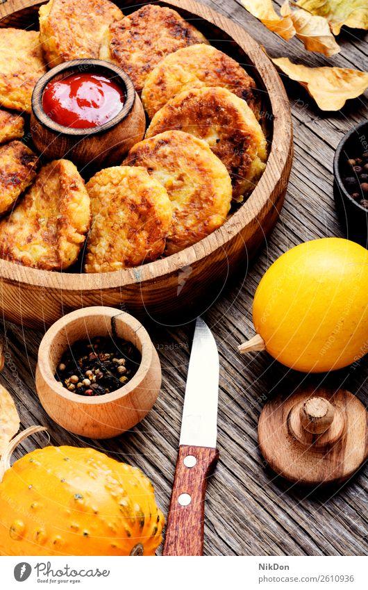 Diet vegetable pumpkin cutlet food vegan food meal fried lunch delicious homemade diet vegetarian healthy dish baked pancake prepared tasty rustic rissole