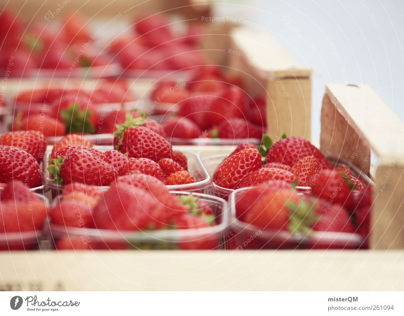 Strawberry cup forever! Art Esthetic Contentment Strawberry variety Red Healthy Healthy Eating Bowl Fairs & Carnivals Markets Market day Offer Selection
