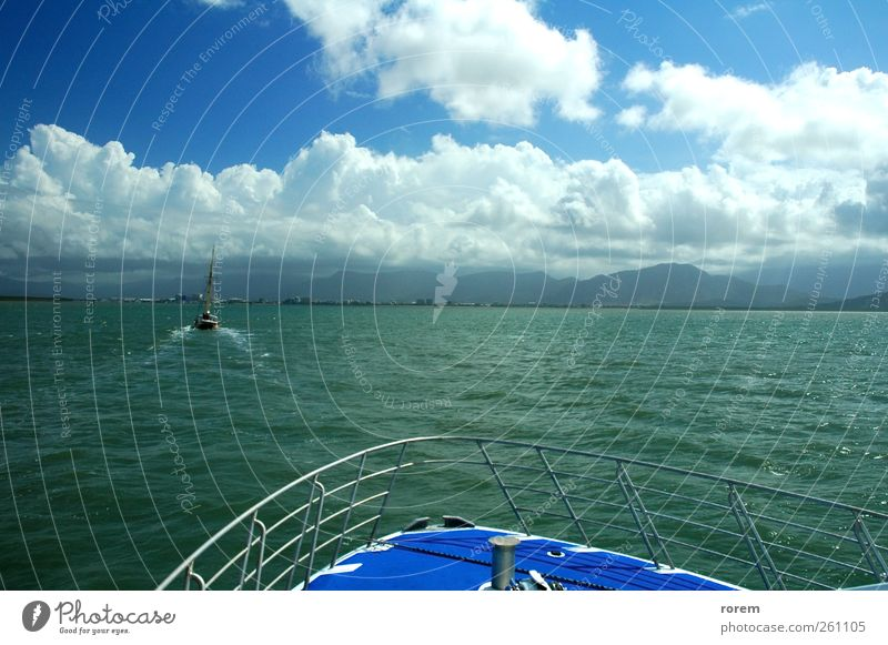 sailing to Cairns Water Vacation & Travel Ocean Clouds Far-off places Coast Watercraft Leisure and hobbies Transport Tourism Sailing Australia Sailboat Yacht